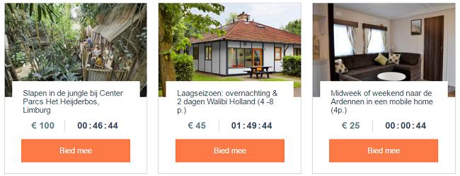 bungalow veilingen